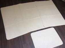 ROMANY GYPSY WASHABLES NICE NON SLIP SETS OF 4 MATS LIGHT CREAMS CHEAPEST GOOD